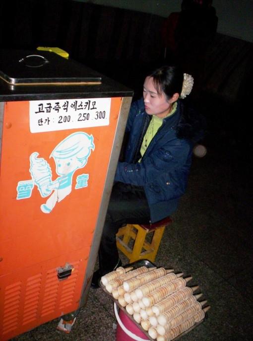 Subway icecream kiosk in Pyongyang