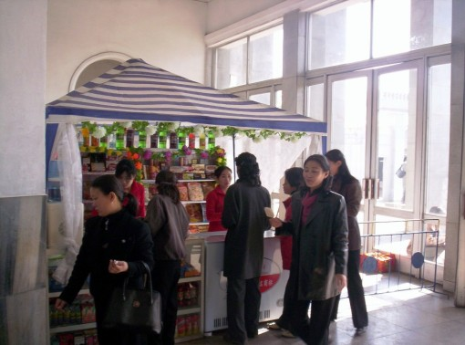 Subway kiosk in Pyongyang
