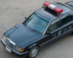 north korean police car