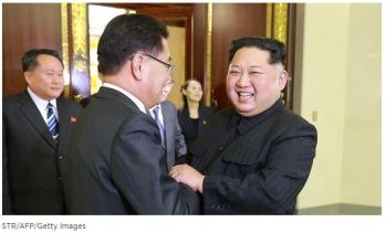 Kim Jung Un and Chung Eui Yong 2018.03.05